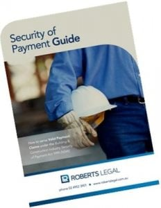 security of payment guide
